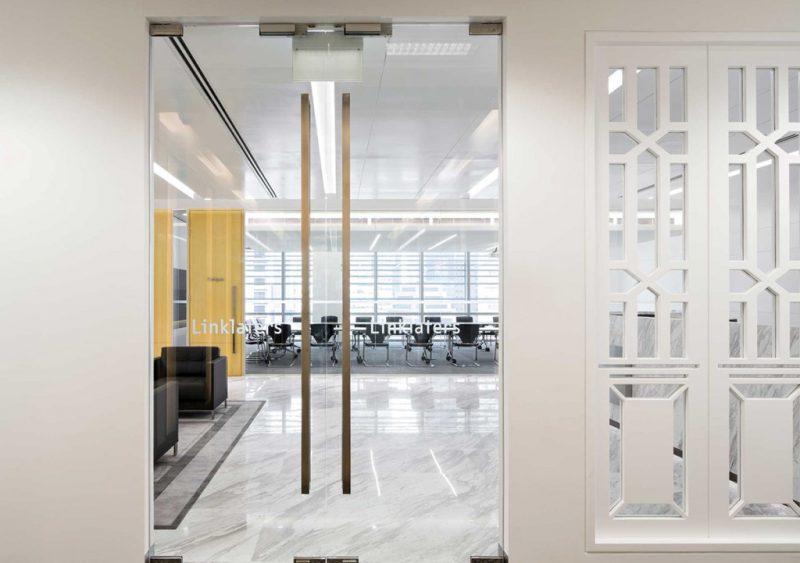 linklaters - glass door