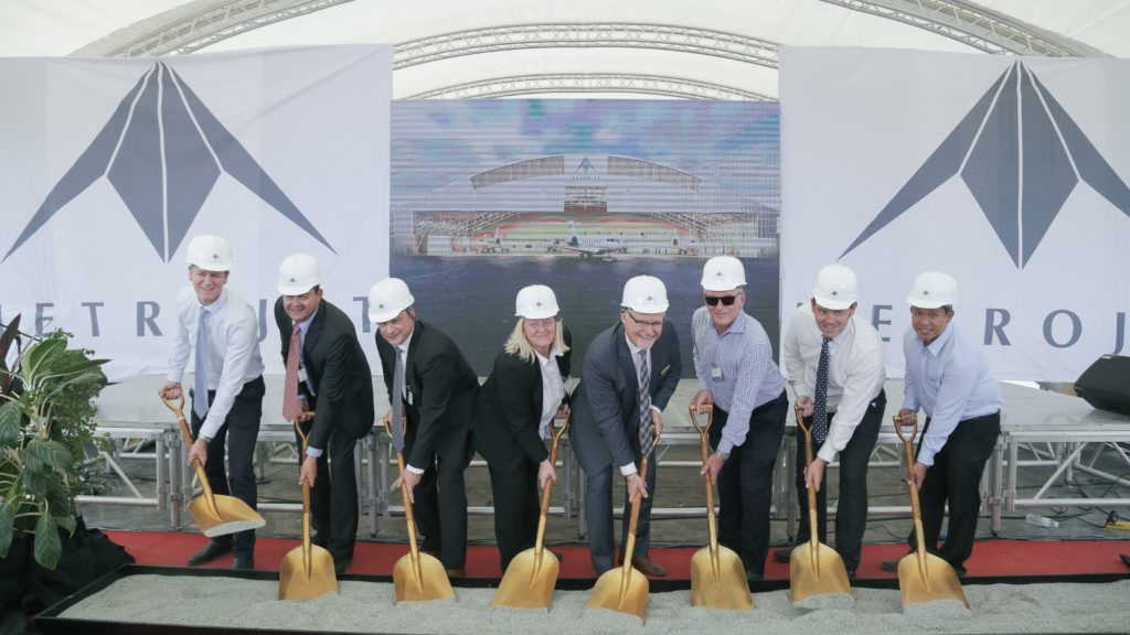 Ground Breaking for Metrojet Aviation Facility in the Philippines